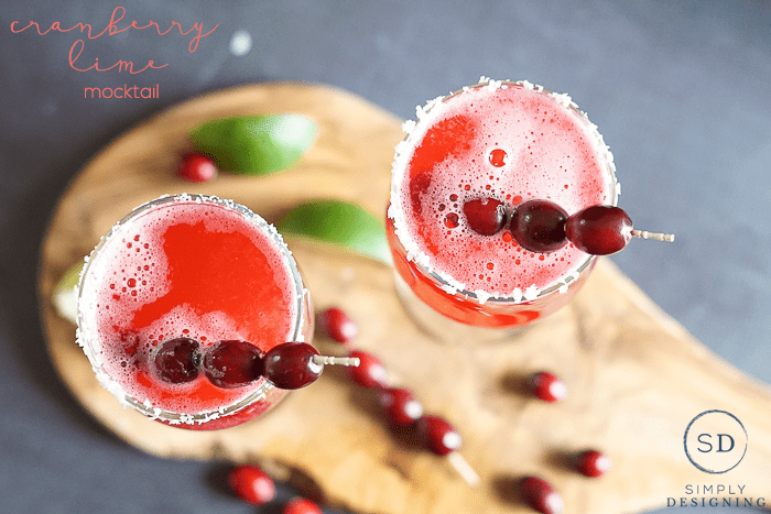 Cranberry Lime Mocktail - this will WOW your guests