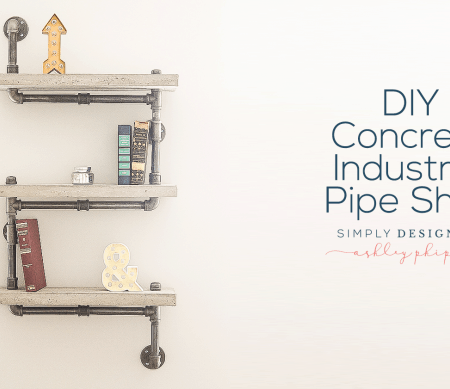 DIY Concrete Industrial Pipe Shelf : Craft Room : Part 9
