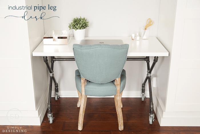 DIY Industrial Pipe Leg Desk