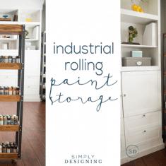 DIY Industrial Rolling Storage