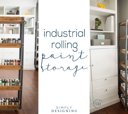 DIY Industrial Rolling Storage