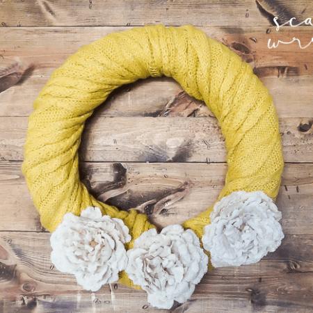 Simple DIY Scarf Wreath
