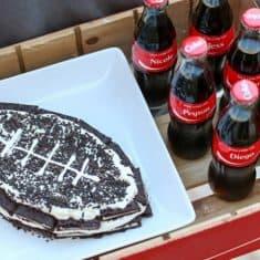 Football OREO Cake Recipe - no bake recipe