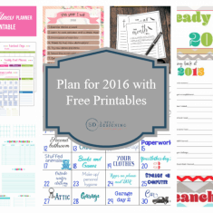 Plan for 2016 with Free Printables