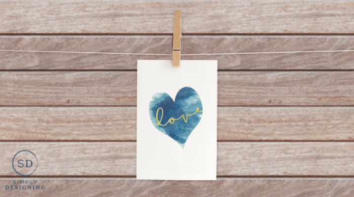 free Blue Heart Love Printable featured image