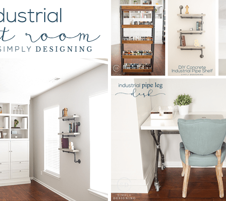 Industrial Craft Room