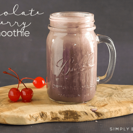 Chocolate Cherry Smoothie Recipe - a simple and healthy smoothie