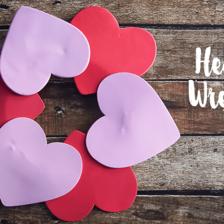 Heart Wreath - a fun and easy kids craft