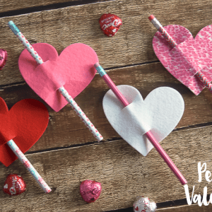 Pencil Valentine - a simple valentine to make and give