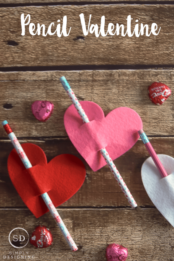 Pencil Valentines   A Simple Valentine To Make And Give