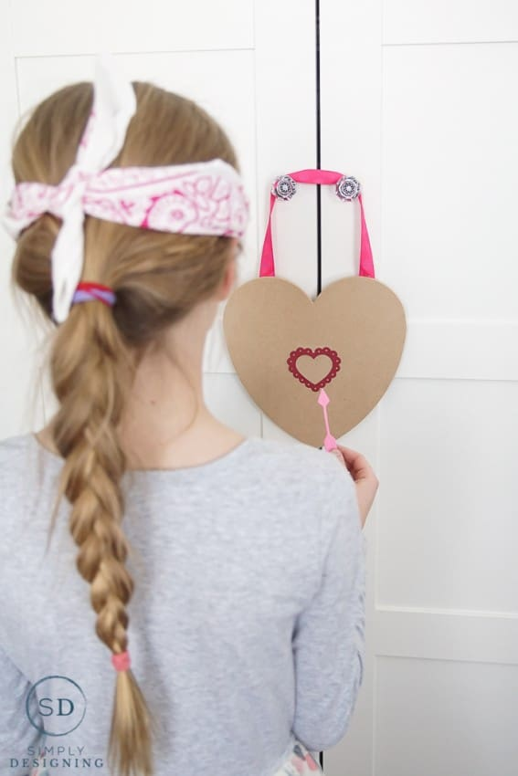 Pin the Arrow on the Heart Game - a fun game for valentines day