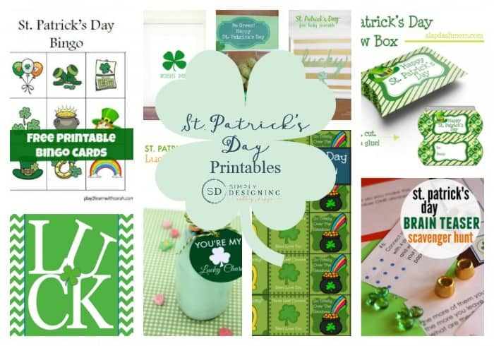 photo about St Patrick's Day Bingo Printable known as St. Patricks Working day Printables