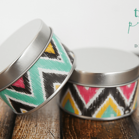 Tribal Print Tins