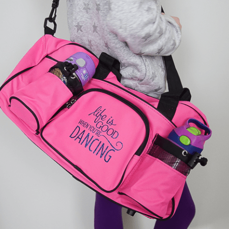 Life is Good when You're Dancing : Personalized Dance Bag