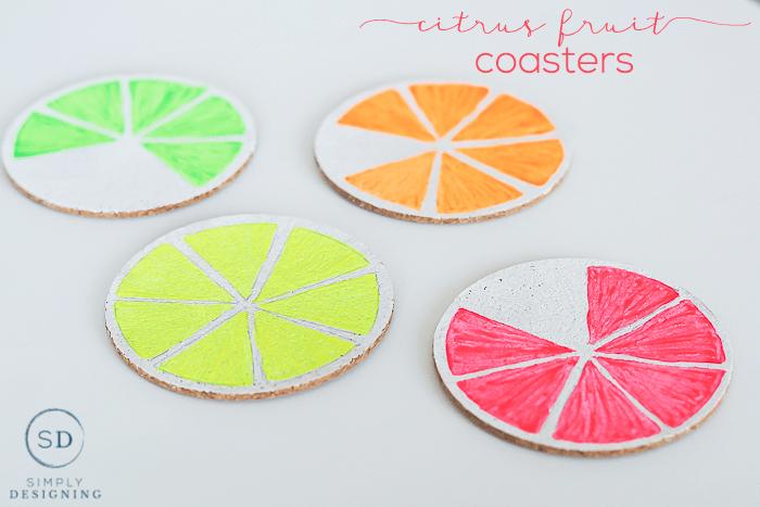 citrus fruit coasters