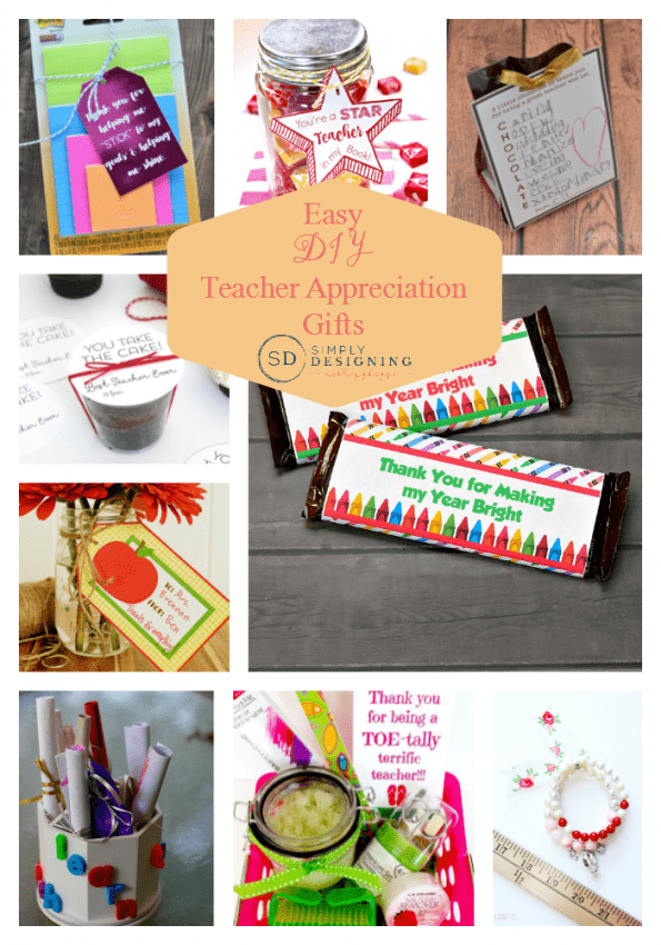 DIY Teacher Appreciation Gifts - Simply Designing