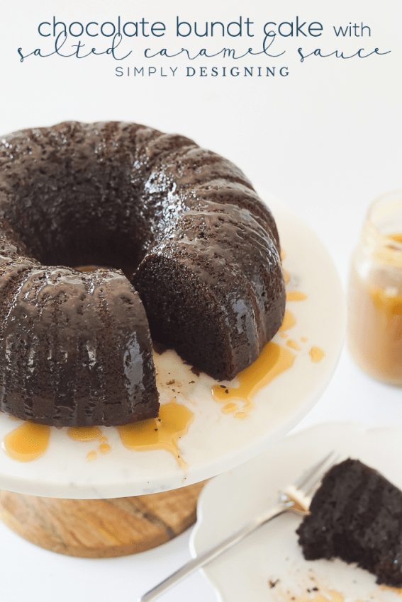 Homemade Chocolate Bundt Cake with Salted Caramel Sauce Recipe