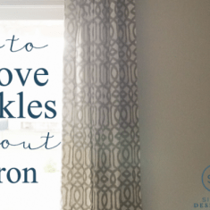 How to Get Creases out of Curtains without an Iron
