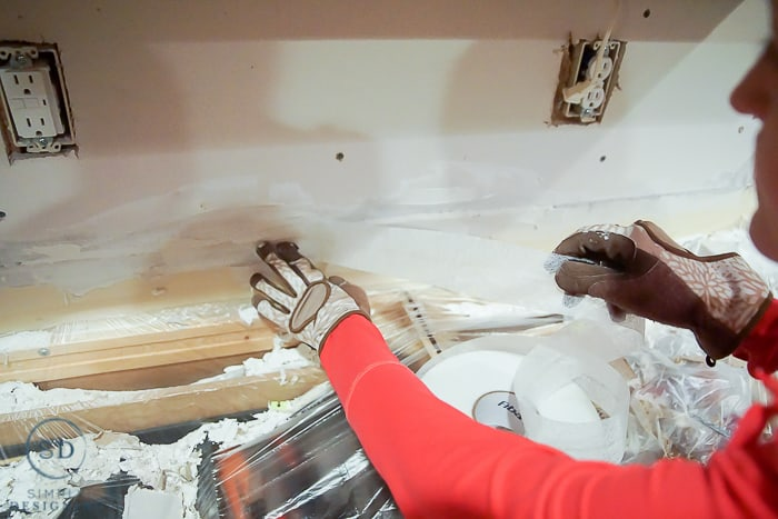 install drywall - tape