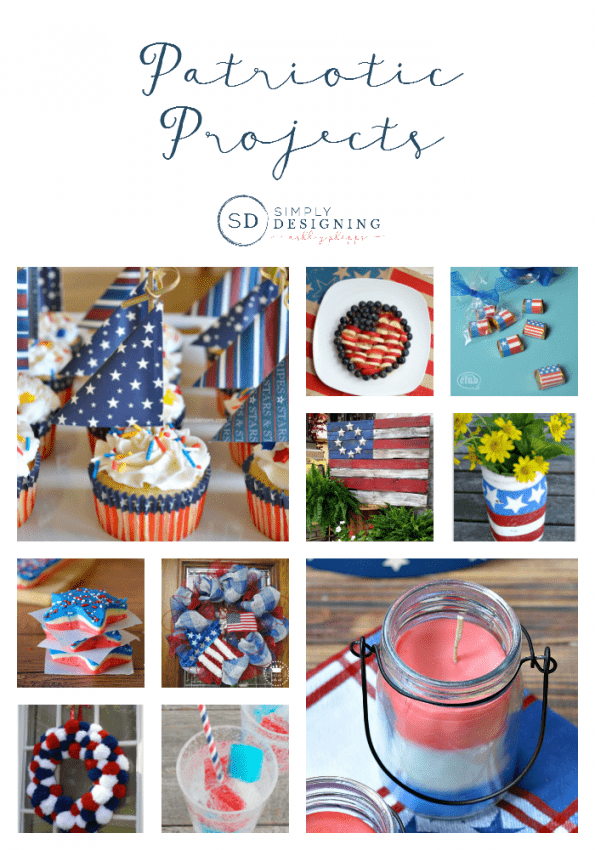I love red white and blue and I love celebrating patriotic holidays. These fun patriotic projects are really easy to do and also so beautiful! I can't wait to try the ice cubes.