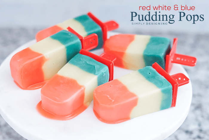 Red White and Blue Jello Pudding Pops