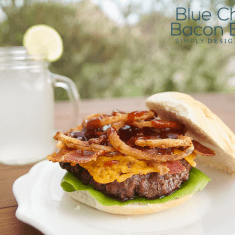 Blue Cheese Bacon Burger - the ultimate man burger