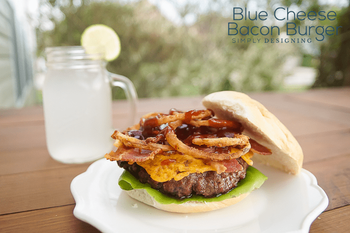 Blue Cheese Bacon Burger - the ultimate man burger