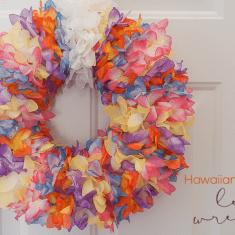 Hawaiian-Inspired Lei Wreath