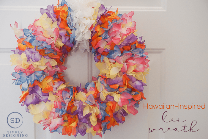 Hawaiian-Inspired Lei Wreath