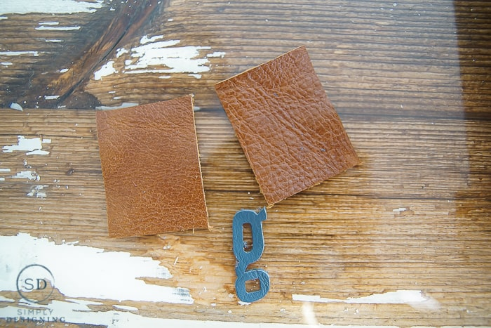 Monogrammed DIY Leather Keychain