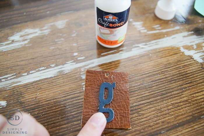 Monogrammed DIY Leather Keychain