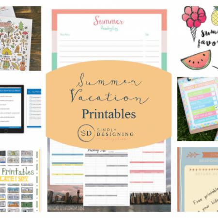 Summer Vacation Printables