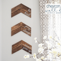 Customizable Chevron Arrow Wall Decor