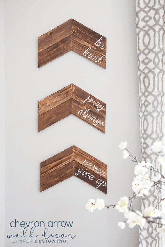 Customizable Chevron Arrow Wall Decor This Is A Really Simple Home Project And Great