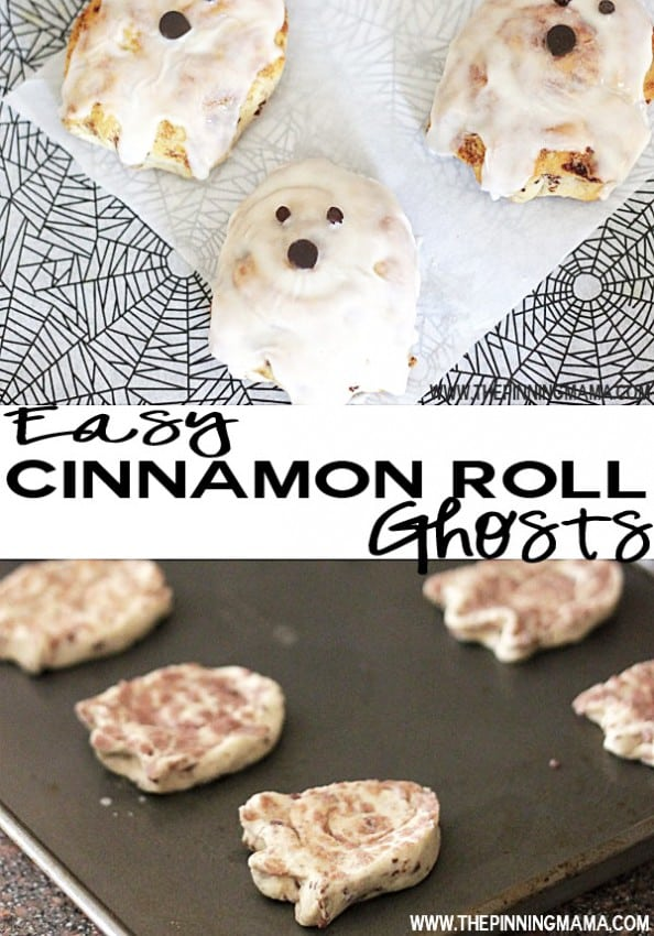 Easy Cinnamon Roll Ghosts by The Pinning Mama