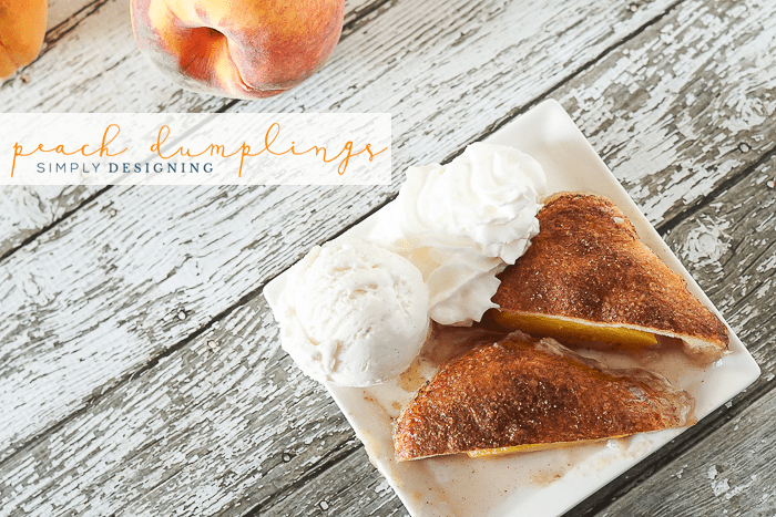 Easy Peach Dumpling Recipe