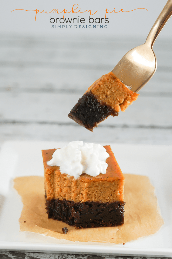 Easy Pumpkin Pie Brownie Bars