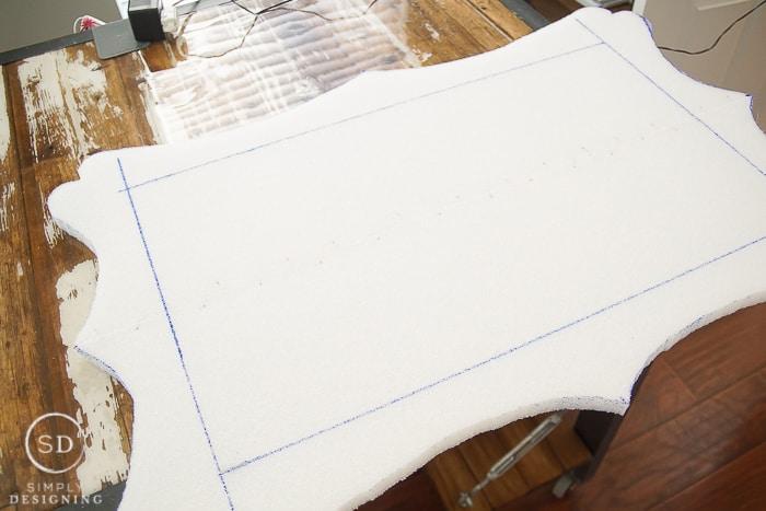 DIY Foam Frame - cut out middle