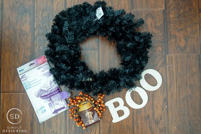 DIY Halloween Wreath - supplies