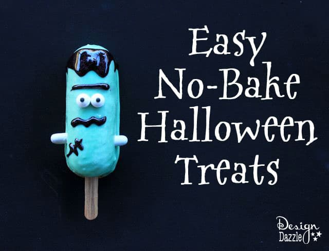 Frankenstein Halloween No Bake Treats with Snack Cakes by Design Dazzle