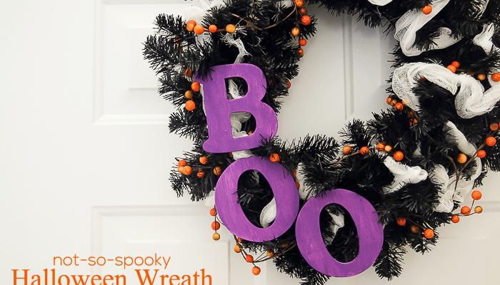 Not-So-Spooky Halloween Wreath