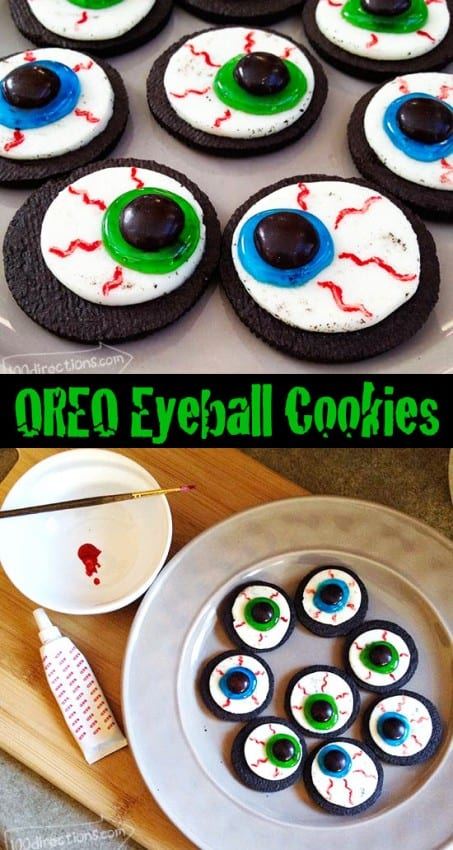 Oreo Eyeball Cookies by 100 Directions