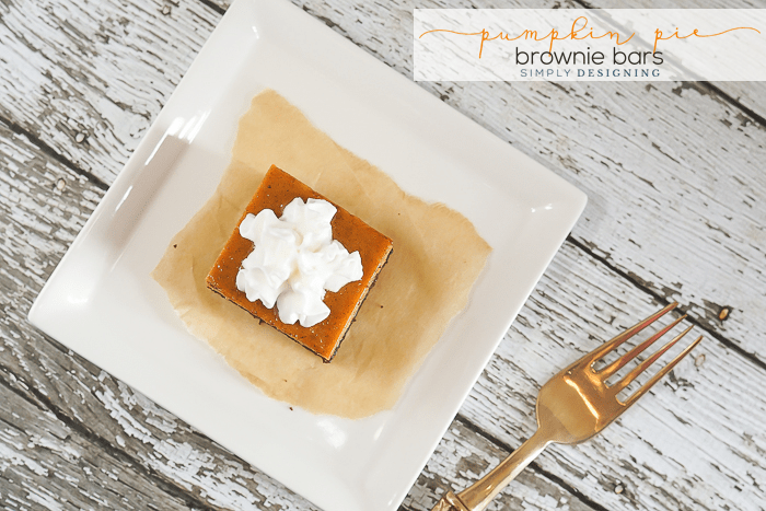 Pumpkin Pie Brownie Bars
