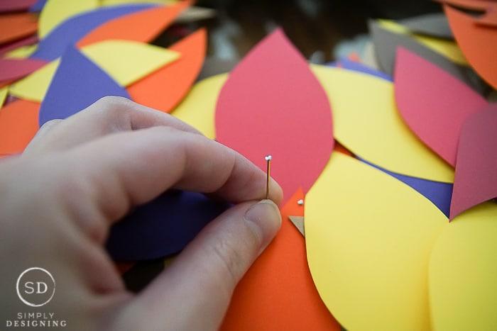 Simply Thankful Wreath Thanksgiving Craft