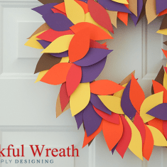 Simple Thankful Wreath Thanksgiving Craft