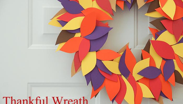 Simple Thankful Wreath Thanksgiving Craft