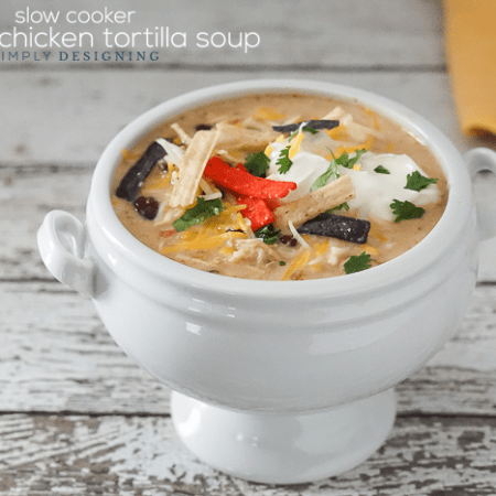 Slow Cooker Creamy Chicken Tortilla Soup