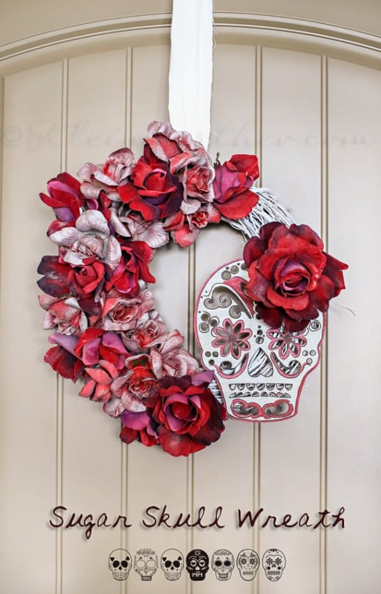 Sugar Skull Wreath by Kleinworth and Co.