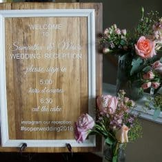 Wedding Reception + DIY Wedding Signs