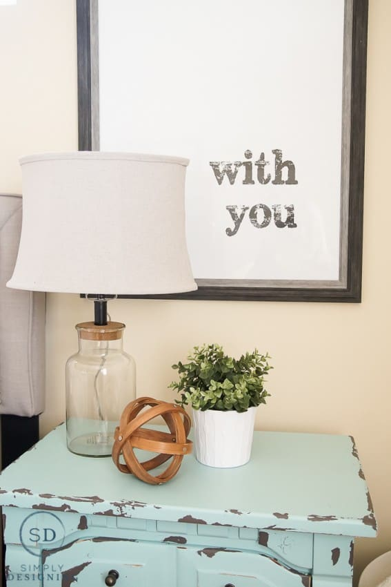 How to Decorate Nightstands with Typography and Industrial Elements